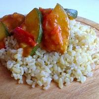 Currys cukkini-ragu bulgurral