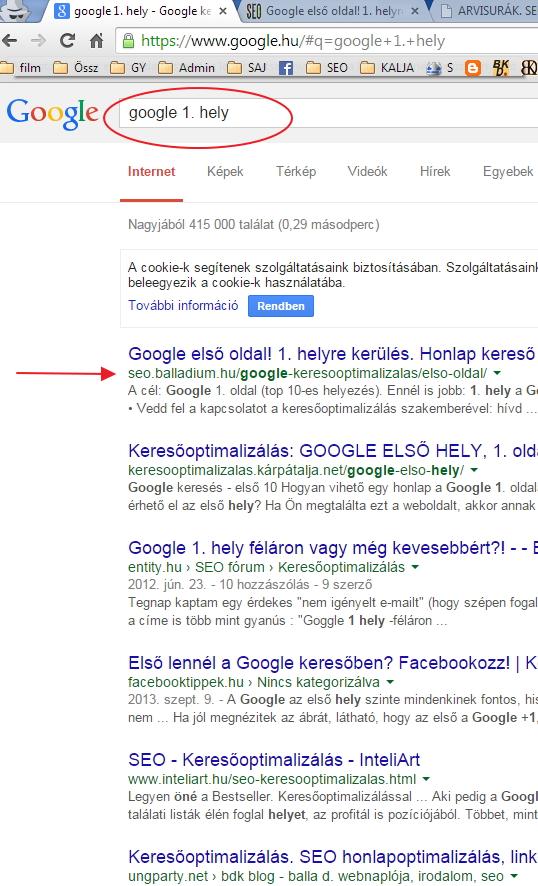 google első hely