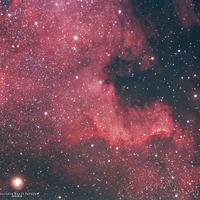 Észak-Amerika köd Nebulosityvel feldolgozva