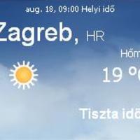 Horvátország aktuális időjárás előrejelzés, 2010. augusztus 18.