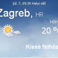Horvátország aktuális időjárás előrejelzés, 2010. július 7.