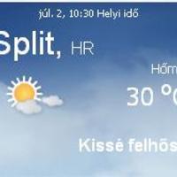 Horvátország napi időjárás előrejelzés 07.02