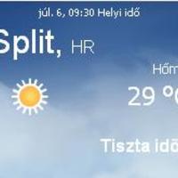 Horvátország napi időjárás előrejelzés 07.06