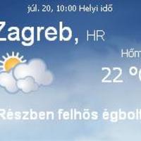 Horvátország aktuális időjárás előrejelzés, 2010. július 20.
