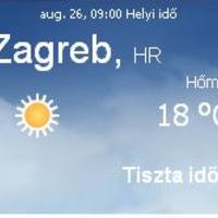 Horvátország aktuális időjárás előrejelzés, 2010. augusztus 26.