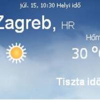 Horvátország aktuális időjárás előrejelzés, 2010. július 15.