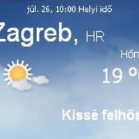 Horvátország aktuális időjárás előrejelzés, 2010. július 26.