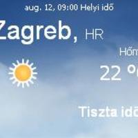 Horvátország aktuális időjárás előrejelzés, 2010. augusztus 12.