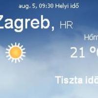 Horvátország aktuális időjárás előrejelzés, 2010. augusztus 5.