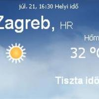 Horvátország aktuális időjárás előrejelzés, 2010. július 21.