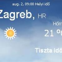 Horvátország aktuális időjárás előrejelzés, 2010. augusztus 2.