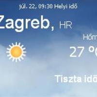 Horvátország aktuális időjárás előrejelzés, 2010. július 22.