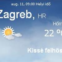 Horvátország aktuális időjárás előrejelzés, 2010. augusztus 11.