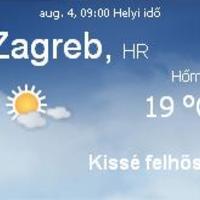 Horvátország aktuális időjárás előrejelzés, 2010. augusztus 4.