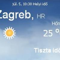 Horvátország napi időjárás előrejelzés 07.05