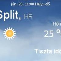 Horvátország napi időjárás előrejelzés 06.25