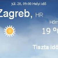 Horvátország aktuális időjárás előrejelzés, 2010. július 28.