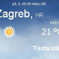 Horvátország aktuális időjárás előrejelzés, 2010. július 8.