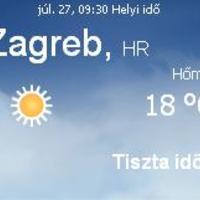 Horvátország aktuális időjárás előrejelzés, 2010. július 27.