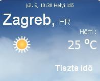 horvátország 2010 napi időjárás előrejelzés 07.05
