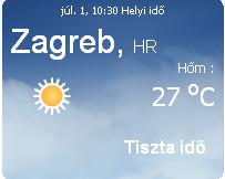 Horvátország aktuális időjárás előrejelzés 2010. július 1.
