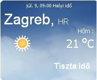 horvátország 2010 aktuális időjárás előrejelzés, 2010. július 9.