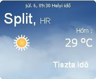 horvátország 2010 napi időjárás előrejelzés 07.06