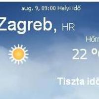 Horvátország aktuális időjárás előrejelzés, 2010. augusztus 9.