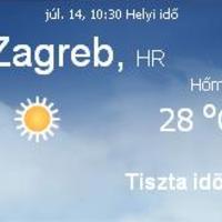 Horvátország aktuális időjárás előrejelzés, 2010. július 14.