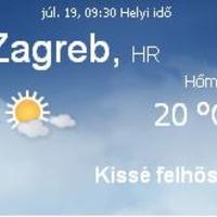 Horvátország aktuális időjárás előrejelzés, 2010. július 19.