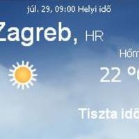Horvátország aktuális időjárás előrejelzés, 2010. július 29.