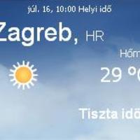 Horvátország aktuális időjárás előrejelzés, 2010. július 16.