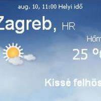Horvátország aktuális időjárás előrejelzés, 2010. augusztus 10.