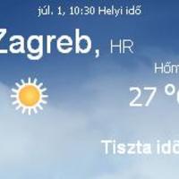Horvátország aktuális időjárás előrejelzés, 2010. július 1.
