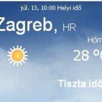 Horvátország aktuális időjárás előrejelzés, 2010. július 13.