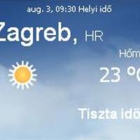 Horvátország aktuális időjárás előrejelzés, 2010. augusztus 3.