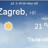Horvátország aktuális időjárás előrejelzés, 2010. július 9.
