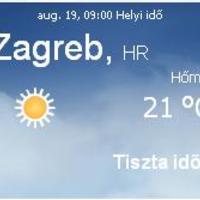 Horvátország aktuális időjárás előrejelzés, 2010. augusztus 19.