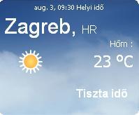 horvátország napi aktuális időjárás előrejelzés eső felhő nap