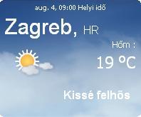 2010 horvátországi időjárás előrejelzés információ horvátország augusztus eső felhő vihar nap