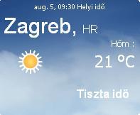 horvátországi előrejelzés  horvátország információ 2010 időjárás