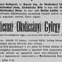 Vármegyei képviselők - Okolicsányi László