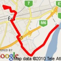 14,55 km a Duna-gát felé