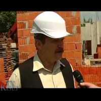 A Hotel Kumánia építése Kisújszálláson