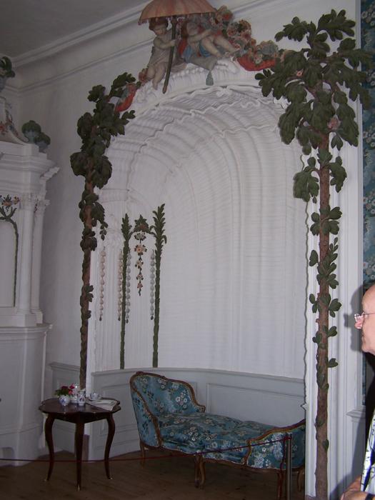 barokk kupolás ernyős szék