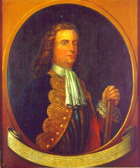 Blas de Lezo egyetlen, hitelesnek tartott arcképe.