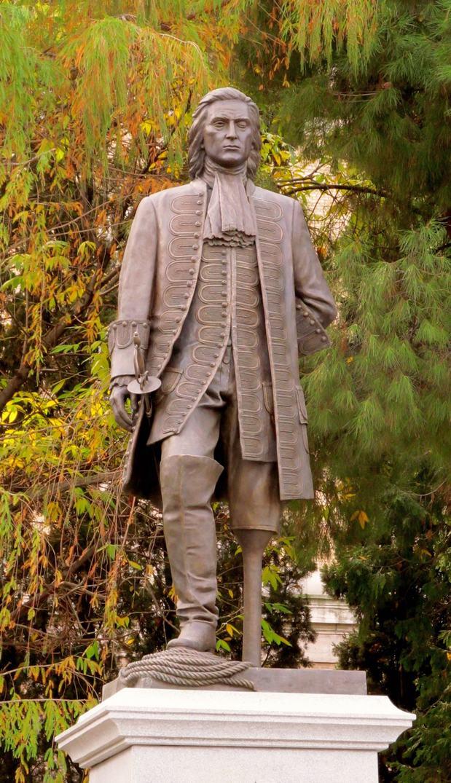 Blas de Lezo egyik újonnan felállított, kissé idealizált szobra Madridban.