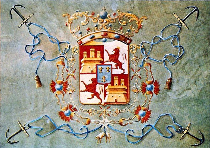 A király által Lezónak adott hadilobogó.