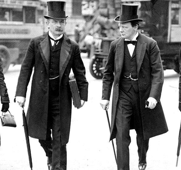 Az új idők politikusai. David Lloyd George, és Churchill. class=