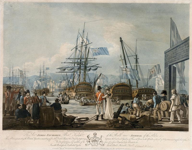 Az angol flotta július 12-én kifut Gibraltárból.
